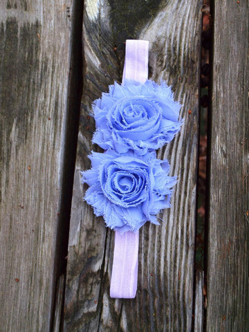 Blue Flower Headbands