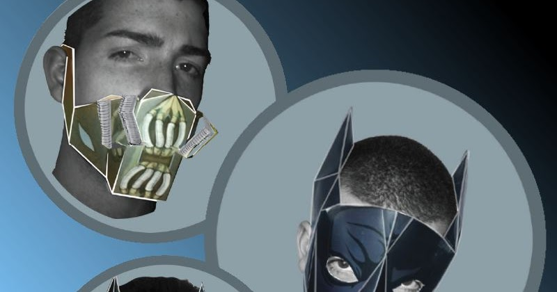 how to make a paper mask of batman