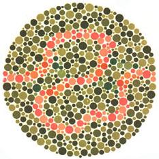 Prueba de daltonismo - Carta de Ishihara 36