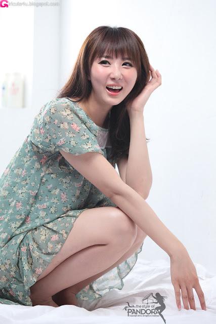 2 Yeon Da Bin on Bed-Very cute asian girl - girlcute4u.blogspot.com