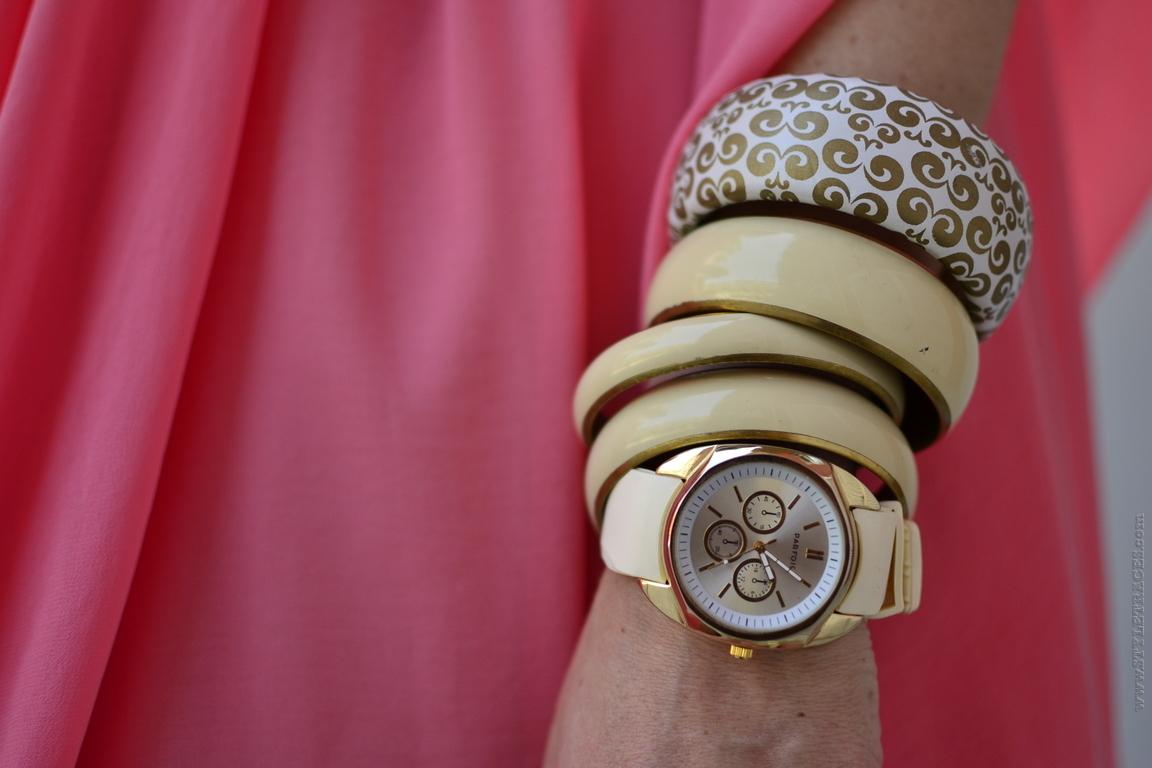 Joana Leite - Miau Frou Coral Dress, Zara Sandals