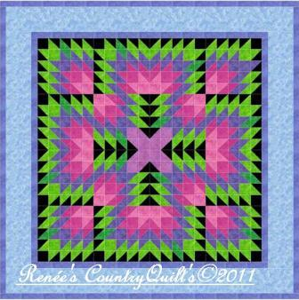 Flying Geese Kitty Paper-Pieced Quilt Block Pattern - Quilting