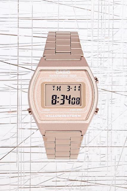rose gold Casio watch