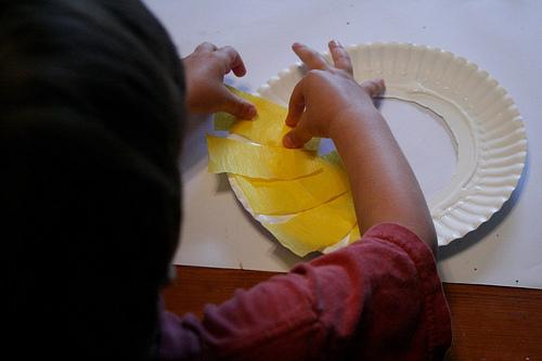 & Lamb Lion Paper Plate Flip Mask Craft | Preschool Crafts for Kids