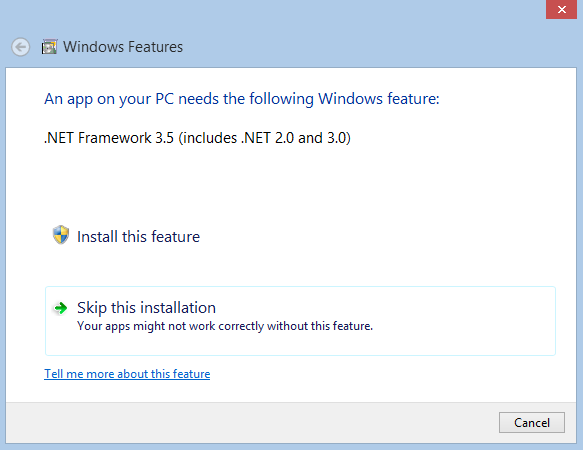 Cara Menginstal Net Framework 3.5 SP1 Windows 8 ~ The Official Blog of ...