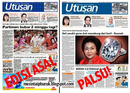 Kaki fitnah Rosmah, Utusan dah kantoi beb!
