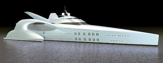 Real Super Yacht Trimaran