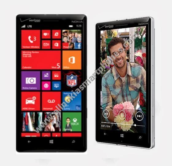 Nokia Lumia 929 Verizon 4G Smartphone Windows 8 Phone Black Phablet Front Side Images Photos Review