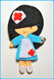 Broche Fieltro Enfermera Chikipol