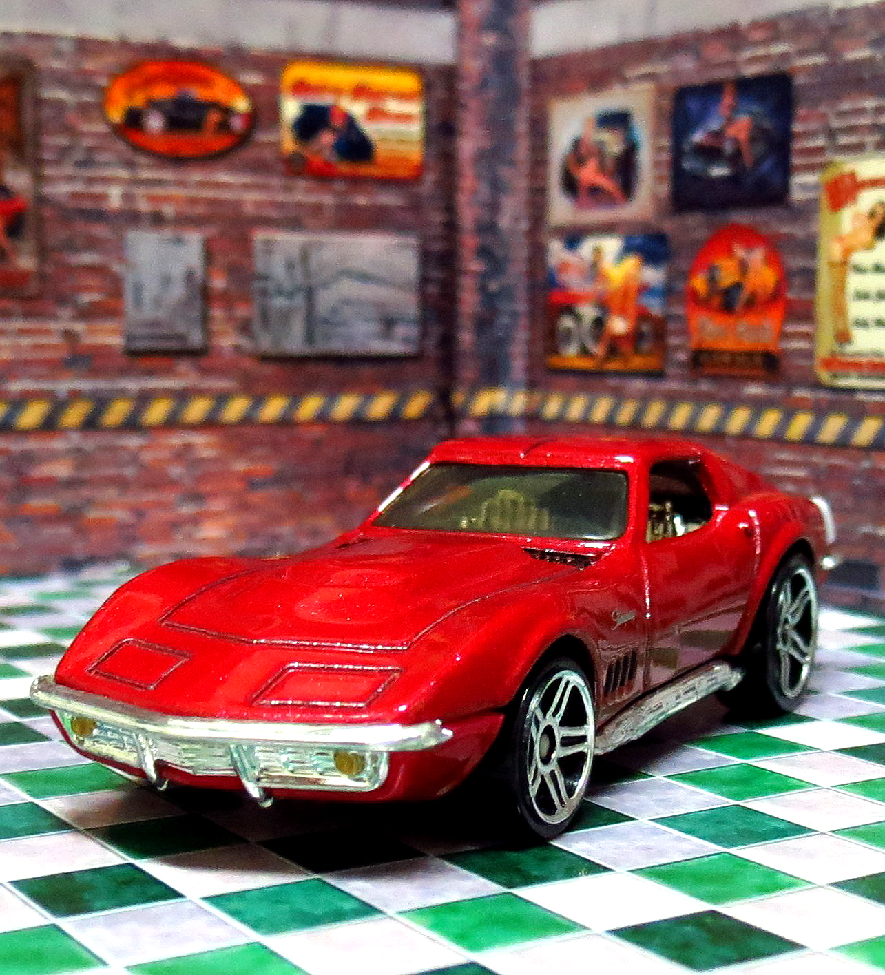 Garagem Hot Wheels Corvette 1969