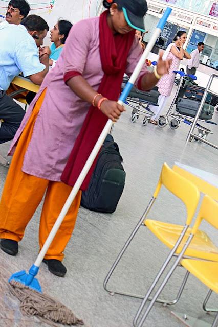 sweeper at Bangalore airport