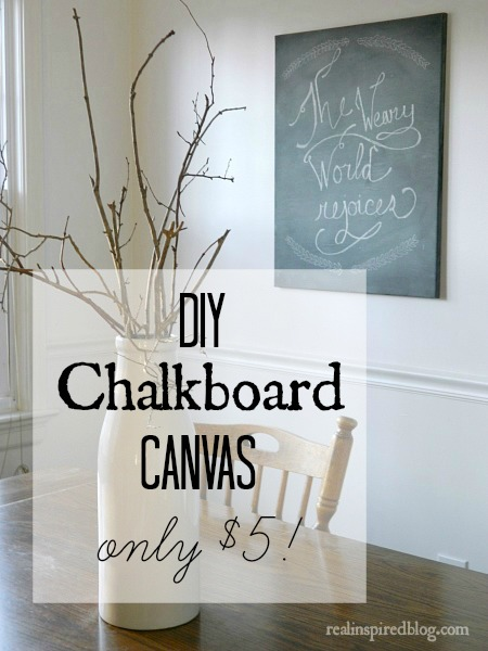 DIY Chalkboard Canvas for $5 using Rustoleum Chalkboard Spray Paint!