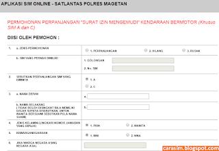 Cara Perpanjang SIM Online magetan