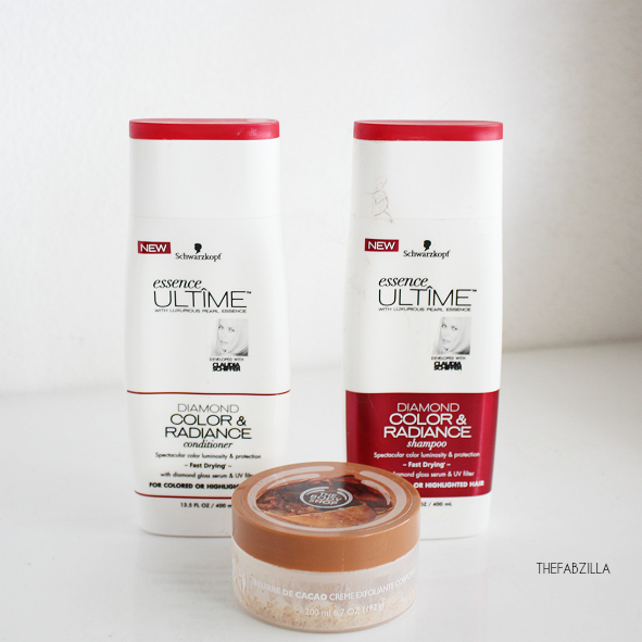 Schwarzkopf Essence Ultime Diamond Color & Radiance shampoo and conditioner