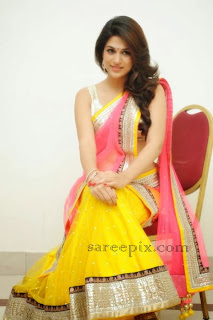 "Shraddha das in half saree at ""Rey"" movie audio launch"
