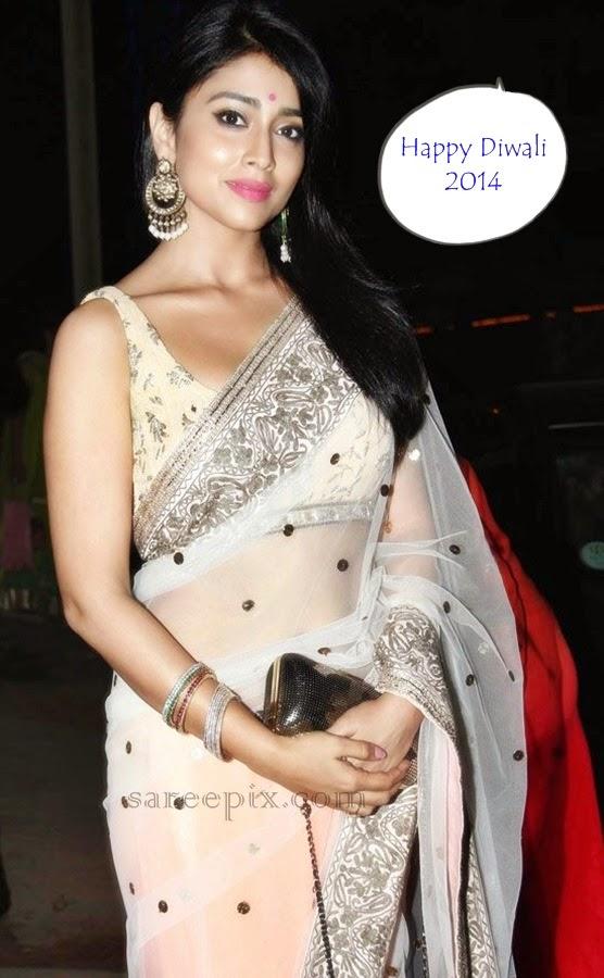 Shriya-saran-transparent-saree-Diwali-bash-2014