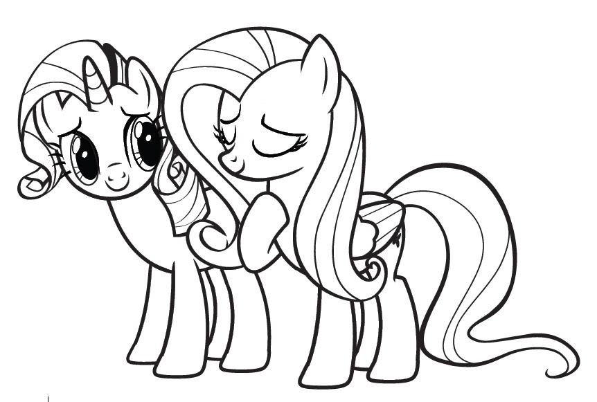 Раскраски my little pony мой маленький пони