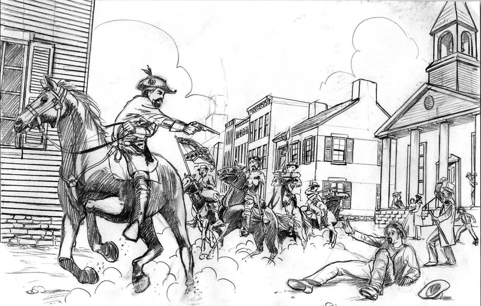 civil war project period scenes pencils