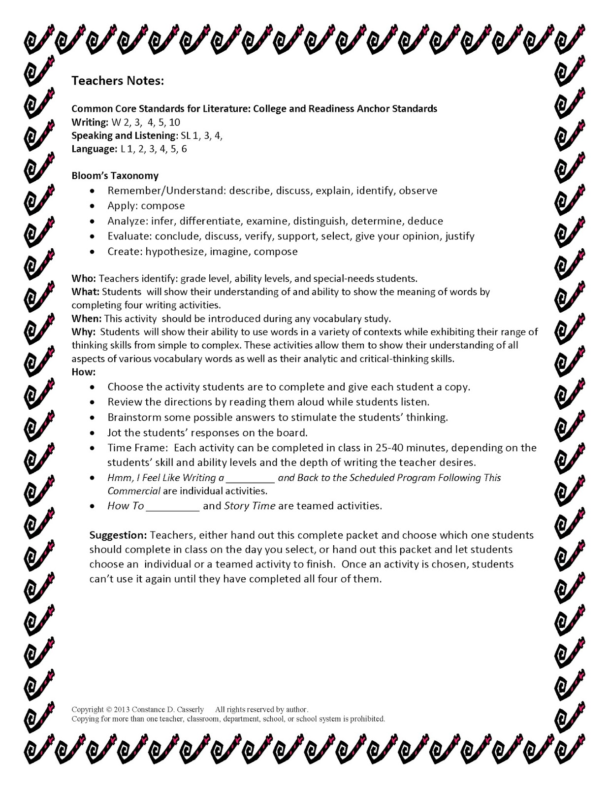 Uncategorized Vocabulary Worksheets High School teach it write word up with the power of words middle and high school english lesson plans vocabulary teacher notes