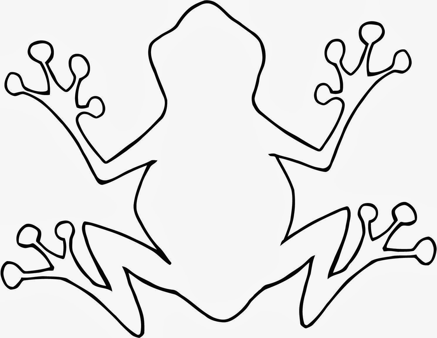 coloring picture of a frog