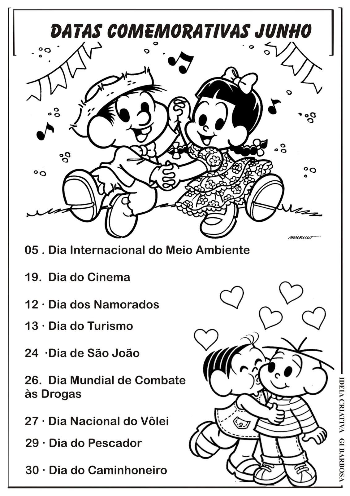 Populares Datas Comemorativas Mês de Junho | Ideia Criativa - Gi Barbosa  BX57