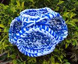 Cestinho Azul e Branco