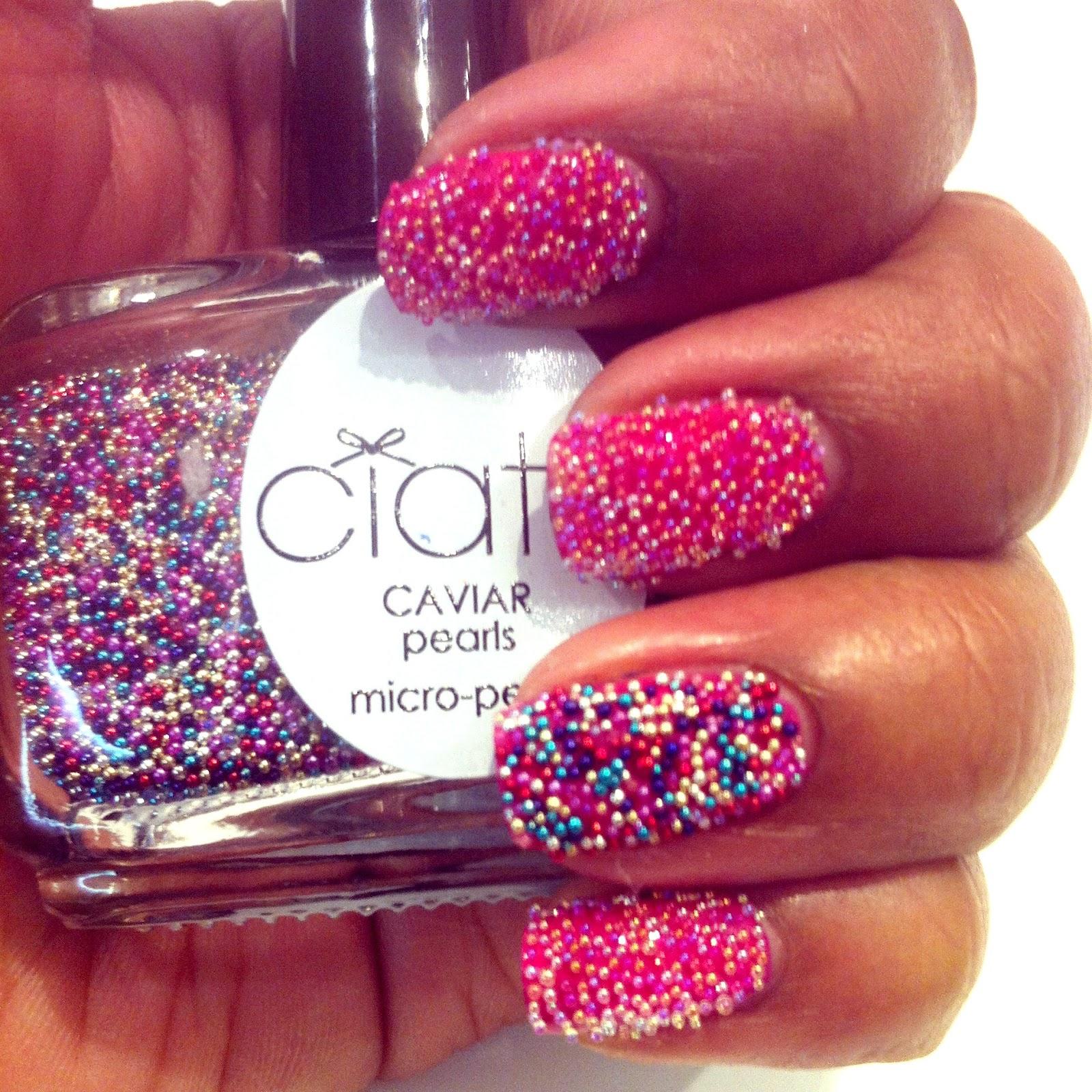 Ciate Bead Nails: Ciate Caviar Manicure