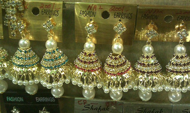 Rhinestone Jhumka Earrings