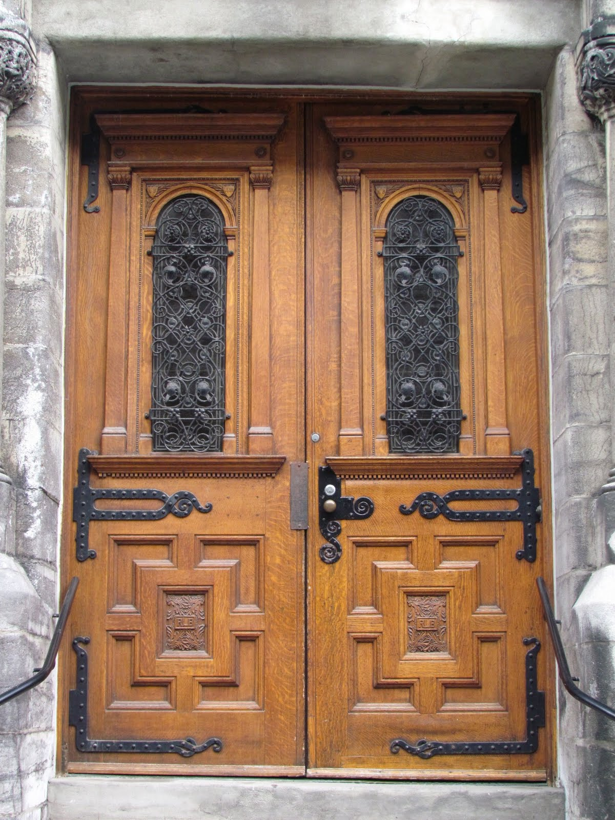 Antique Carved Wooden Doors In Montreal