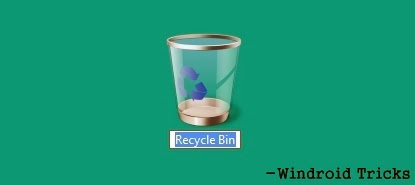 Rename Recycle Bin using Registry Editor