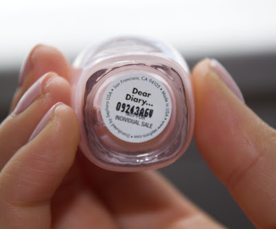 sephora by opi dear diary nail polish ...