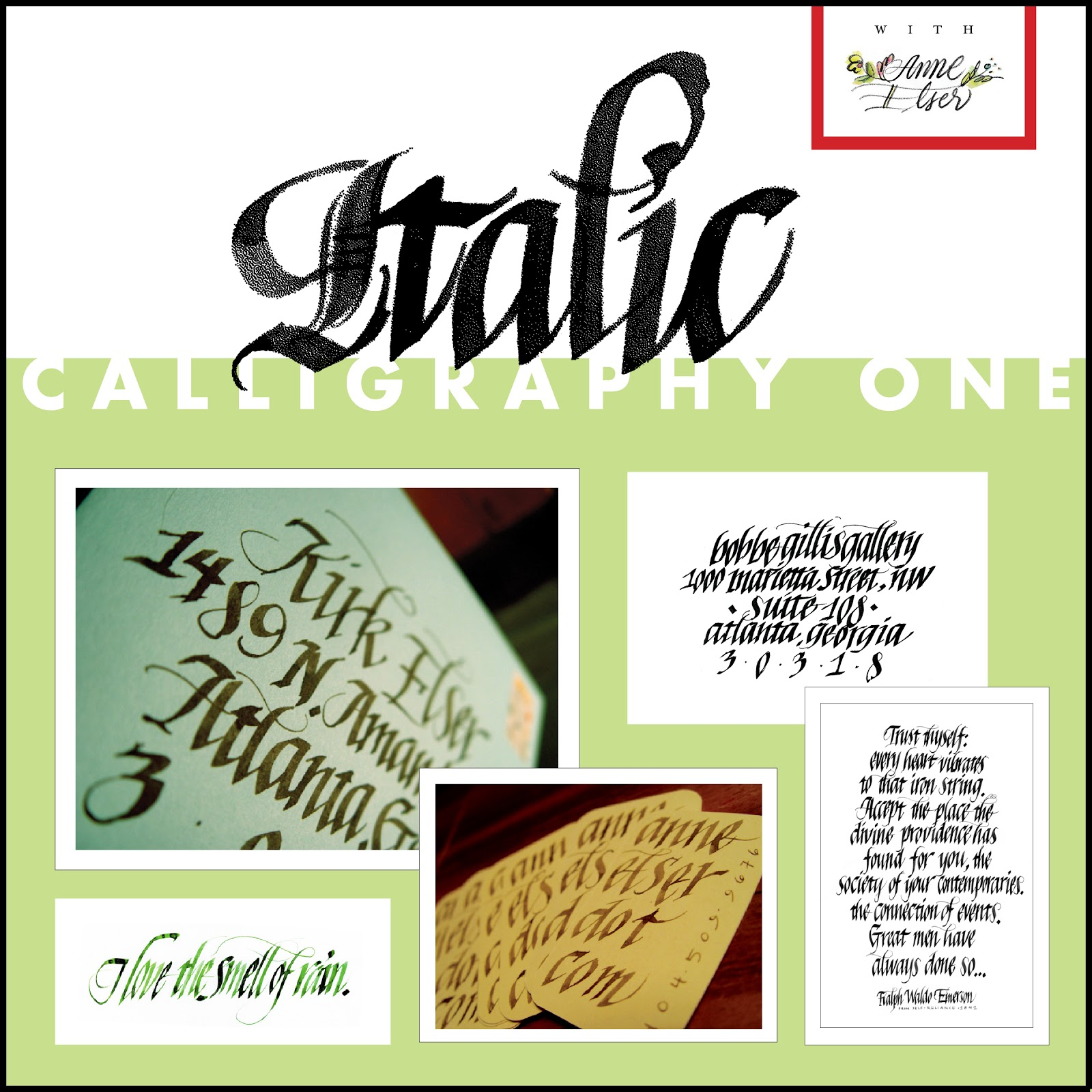 Anne Elser New Italic Calligraphy Classes At Spruill