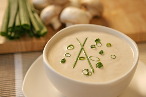LOW-FAT Cream of Mushroom Soup - LOW-FAT Creamy Soup Recipes