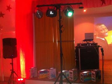 DJ-MEL setup at a banquet facility