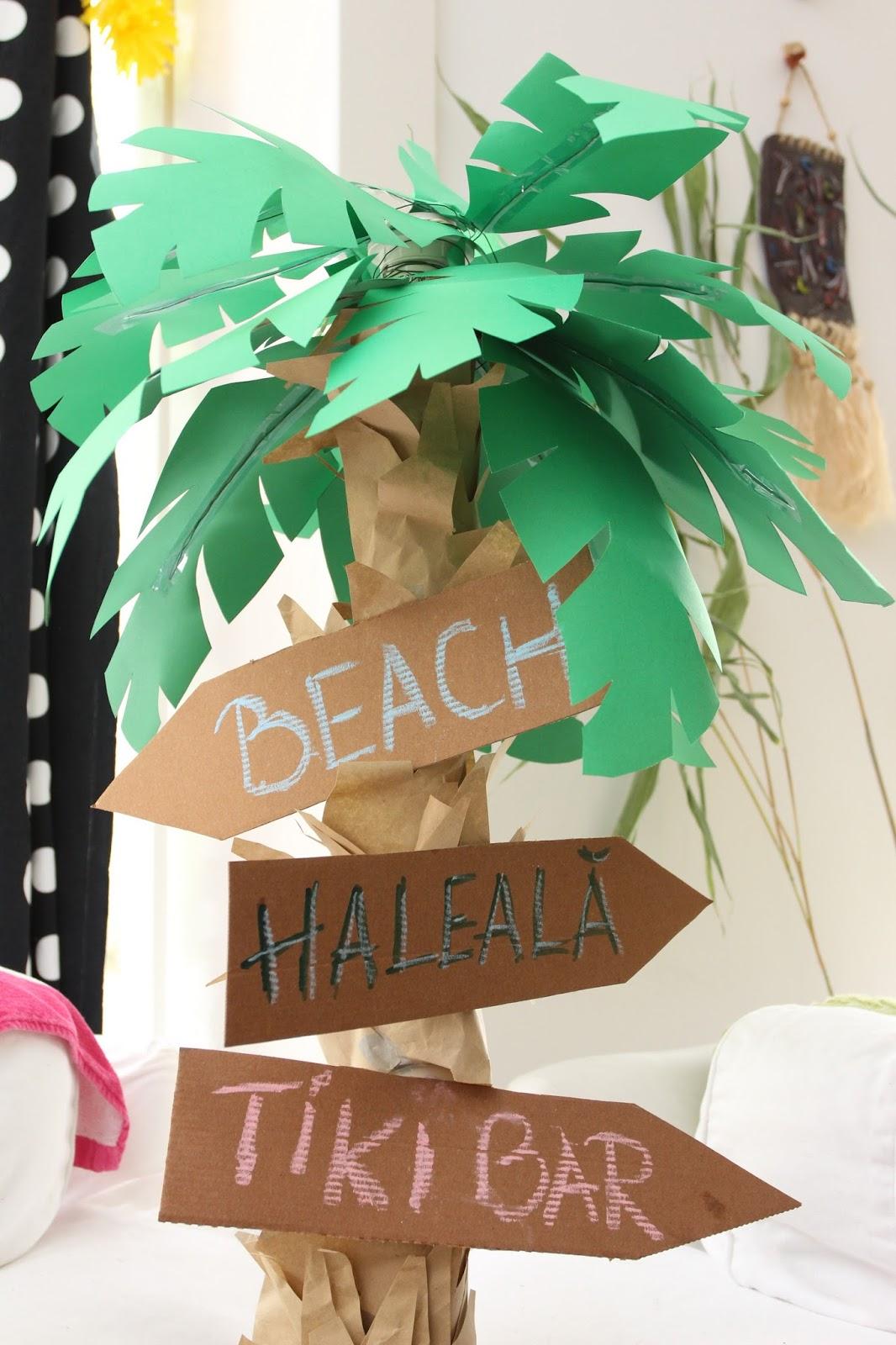 Гирлянда пальма из бумаги своими руками
