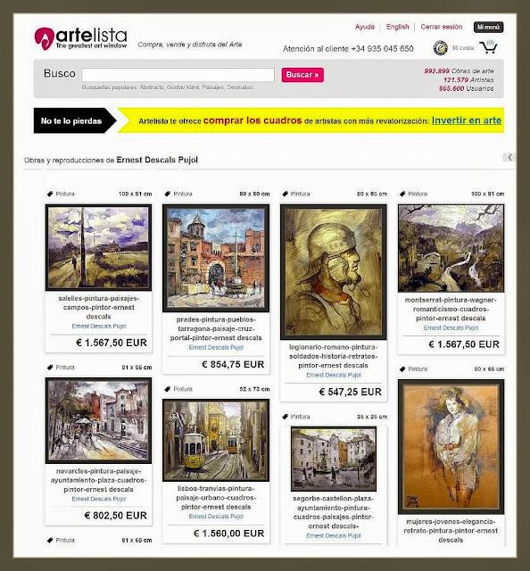 ARTELISTA-PINTURA-GALERIA-INTERNACIONAL-CUADROS-PINTOR-ERNEST DESCALS