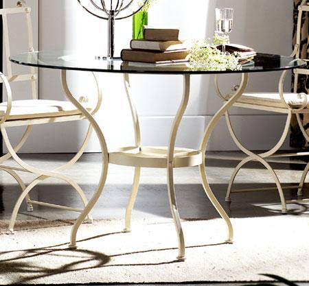 Muebles de forja tres mesas redondas de forja - Mesas de comedor de forja ...