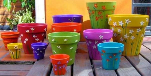 Macetas coloridas y con diseños originales