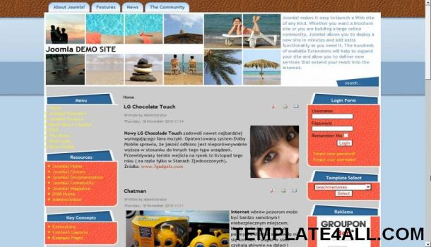 Blue Orange Travel Joomla Template