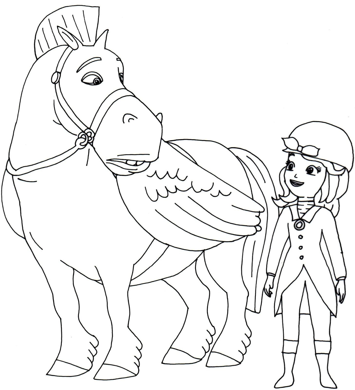 Sofia The First Coloring Pages Minimus the Great and Sofia the