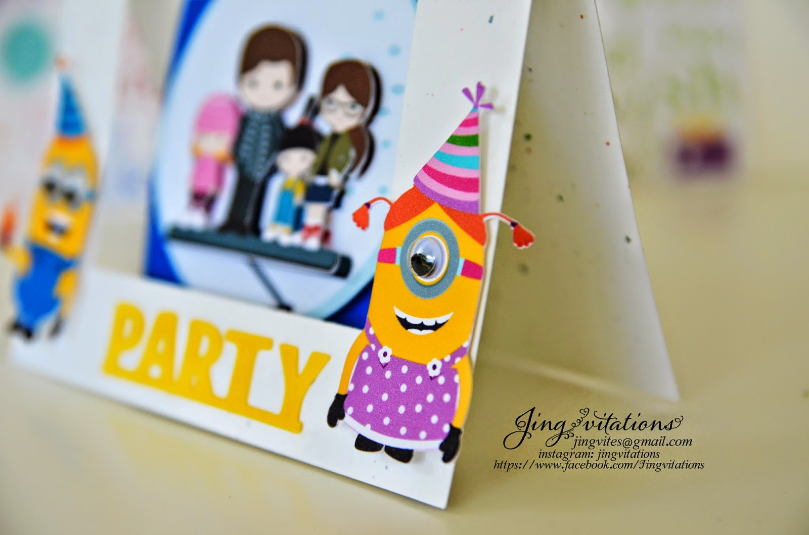 handmade minion invitations