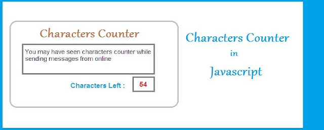 Characters Counter in Javascript
