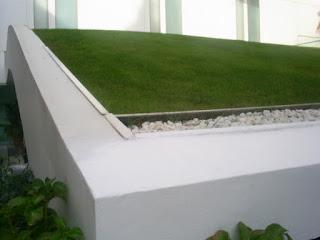 cubierta vegetal museo Thyssen de cerca