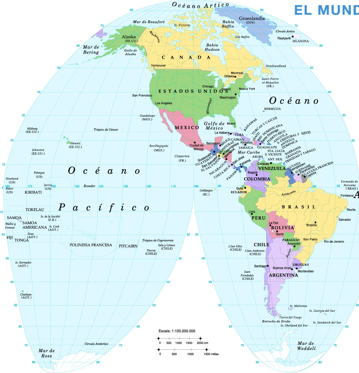 Norte America Map America Map United States Map Nations Online - Us map with big rivers