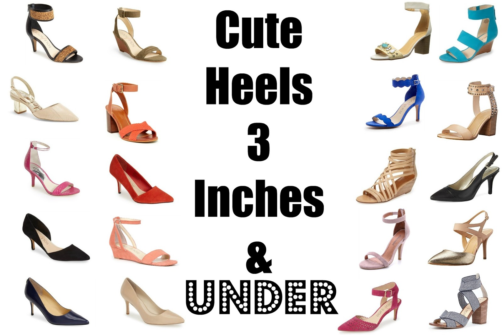 3 Inch Chunky Heel Shoes