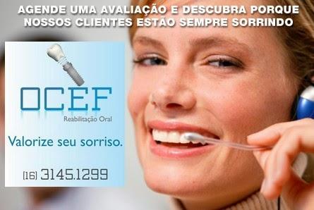 """Ocef-Reabilitação Oral """" Valoriza seu sorriso"""""""