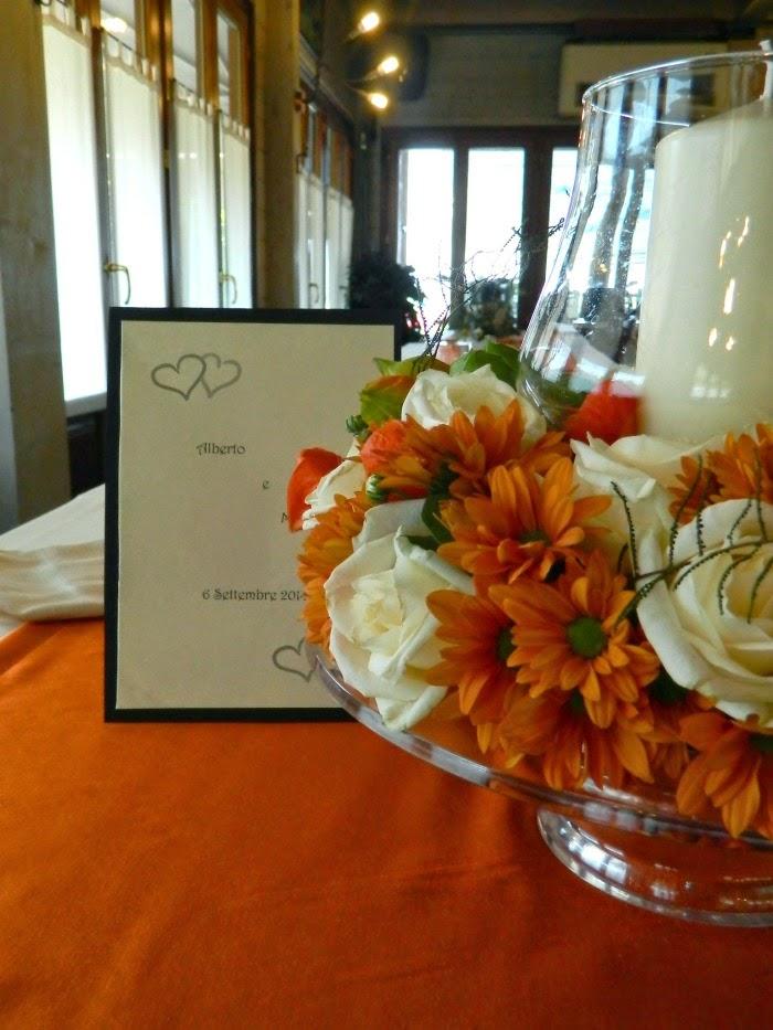 Matrimonio In Bianco : Lieta cima matrimonio in bianco e arancio