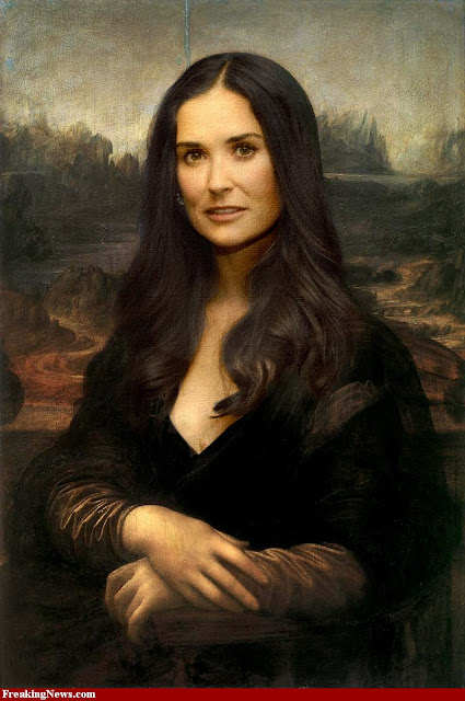 When Monalisa fixed , photoshop mona lisa