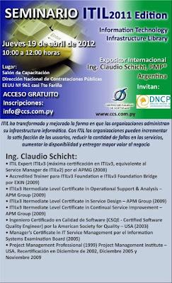Imagen de un Seminario sobre ITIL en Asunción - Paraguay
