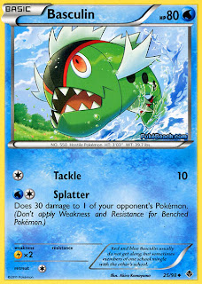 Basculin Emerging Powers Pokemon Card